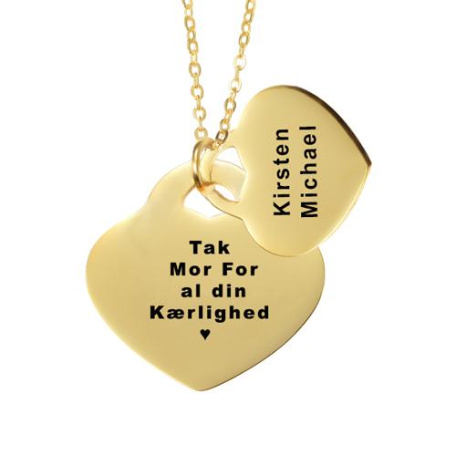 ave til mor, mors dag gave, gaveideer til mor, smykker med gravering, halskæde med gravering