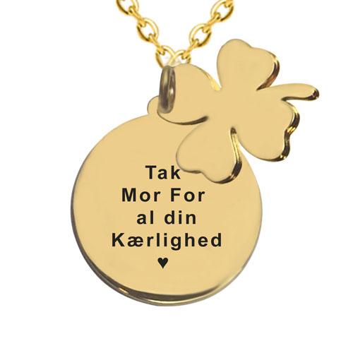 Gave til mor, halskæde med gravering, halskæde med indgravering, smykker med gravering, smykker med indgravering, navnehalskæde, halskæde med navn